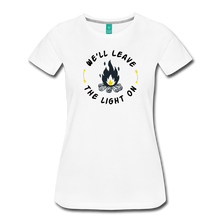 Load image into Gallery viewer, Women's We'll Leave the Light On T-Shirt - white