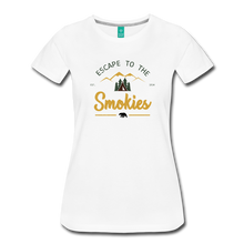 Load image into Gallery viewer, Women's Escape to the Smokies T-Shirt - white