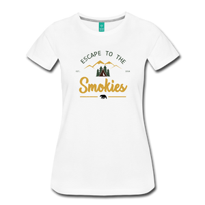 Women's Escape to the Smokies T-Shirt - white