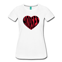 Load image into Gallery viewer, Women's Big Heart Horse T-Shirt - white