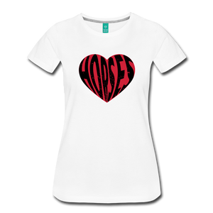 Women's Big Heart Horse T-Shirt - white