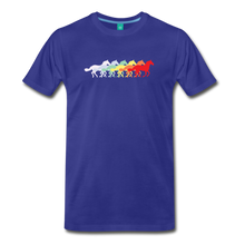 Load image into Gallery viewer, Men's Retro Rainbow Horse T-Shirt - royal blue