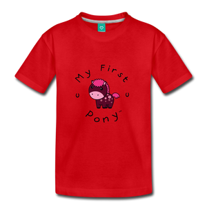 Kids' My First Pony T-Shirt (magenta) - red