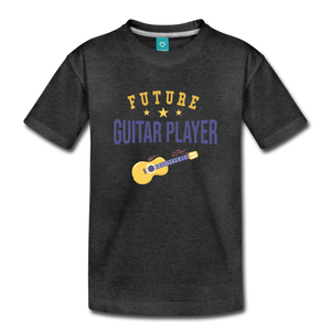 Toddler Guitar Player T-Shirt - charcoal gray