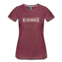 Load image into Gallery viewer, Women's Bluegrass T-Shirt - heather burgundy
