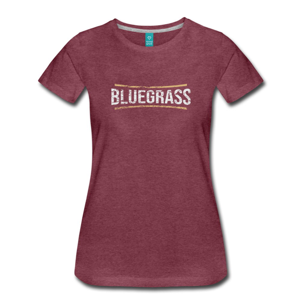 Women's Bluegrass T-Shirt - heather burgundy