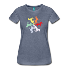 Load image into Gallery viewer, Women's Rainbow Horse Circle T-Shirt - heather blue