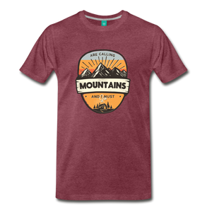 Men's Mountain's Calling T-Shirt - heather burgundy