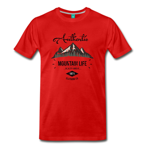 Men's Dark Authentic Mountain Life Clothing Co. T-Shirt - red