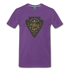 Men's Hiking Life T-Shirt - purple