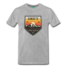 Load image into Gallery viewer, Men's Sunset T-Shirt - heather gray