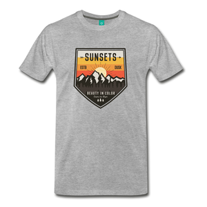 Men's Sunset T-Shirt - heather gray