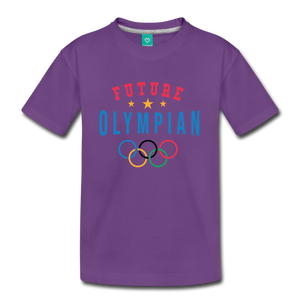 Kids' Future Olympian T-Shirt - purple