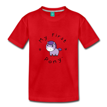 Load image into Gallery viewer, Kids' My First Pony T-Shirt (lilac patch) - red