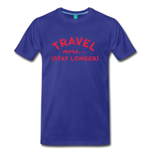 Load image into Gallery viewer, Men's Travel More Stay Longer T-Shirt - royal blue