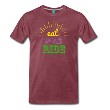 Load image into Gallery viewer, Men's Eat Sleep Ride T-Shirt - heather burgundy
