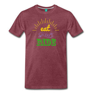 Men's Eat Sleep Ride T-Shirt - heather burgundy