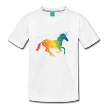 Load image into Gallery viewer, Kids' Rainbow Unicorn T-Shirt - white