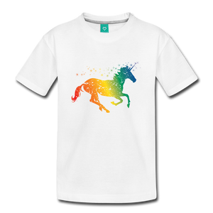Kids' Rainbow Unicorn T-Shirt - white