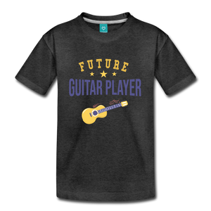 Kids' Guitar Player T-Shirt - charcoal gray