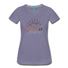 Load image into Gallery viewer, Women's Stay Wild T-Shirt - washed violet
