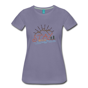 Women's Stay Wild T-Shirt - washed violet