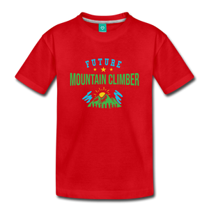 Toddler Future Mountain Climber T-Shirt - red