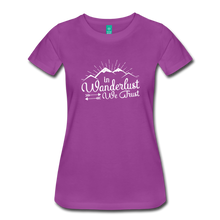 Load image into Gallery viewer, Women's Wanderlust T-Shirt (white) - light purple