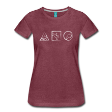 Load image into Gallery viewer, Women's Horse Symbols T-Shirt - heather burgundy
