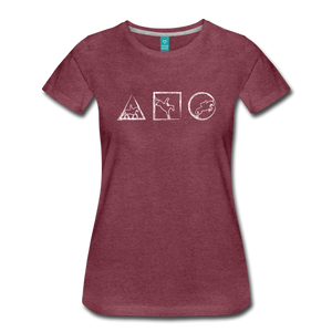Women's Horse Symbols T-Shirt - heather burgundy