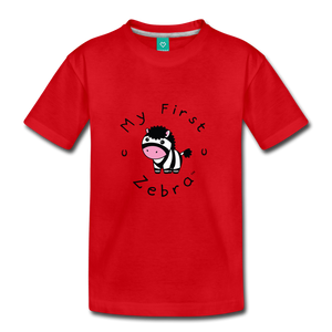 Kids' My First Zebra T-Shirt - red