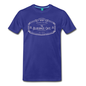Men's The Bluegrass Cafe (music is life) T-Shirt - royal blue
