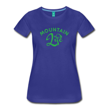 Load image into Gallery viewer, Women's Mountain Life (script) T-Shirt - royal blue
