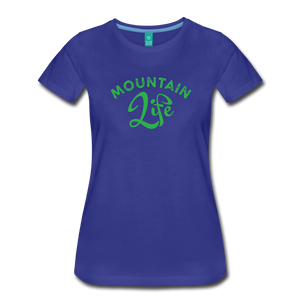 Women's Mountain Life (script) T-Shirt - royal blue