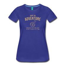 Load image into Gallery viewer, Women's Enjoy the Adventure T-Shirt - royal blue