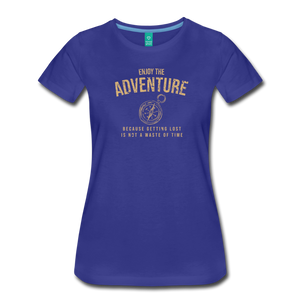 Women's Enjoy the Adventure T-Shirt - royal blue