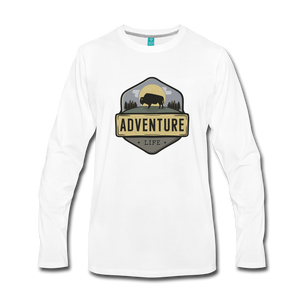 Men's Adventure Life Long Sleeve Shirt - white