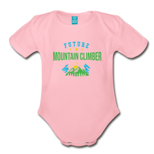 Load image into Gallery viewer, Future Mountain Climber Baby Bodysuit - light pink