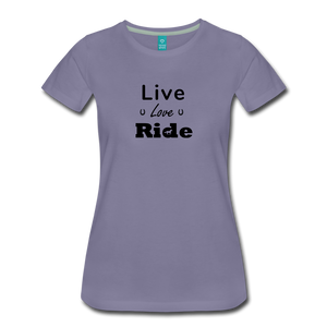 Women's Live Lover Ride T-Shirt - washed violet