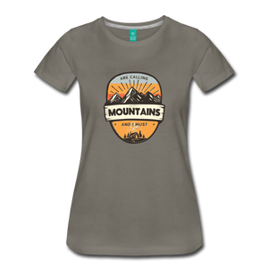 Women's Mountain's Calling T-Shirt - asphalt