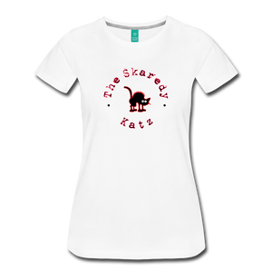 Women's The Skaredy Katz T-Shirt - white