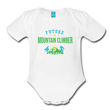 Load image into Gallery viewer, Future Mountain Climber Baby Bodysuit - white