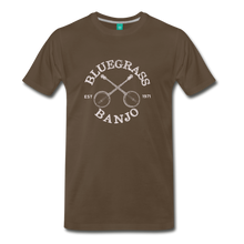Load image into Gallery viewer, Men's Bluegrass Banjo T-Shirt - noble brown