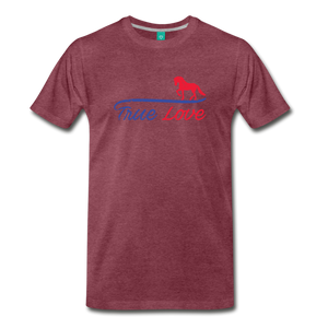 Men's True Love T-Shirt - heather burgundy