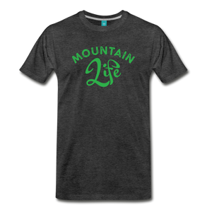 Men's Mountain Life (script) T-Shirt - charcoal gray