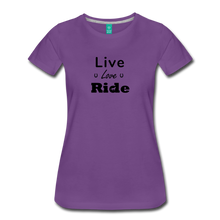 Load image into Gallery viewer, Women's Live Lover Ride T-Shirt - purple