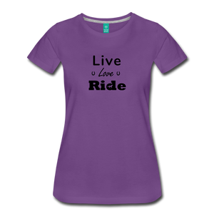 Women's Live Lover Ride T-Shirt - purple