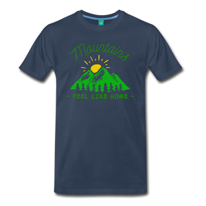 Men's Mountains Feel Like Home T-Shirt - navy