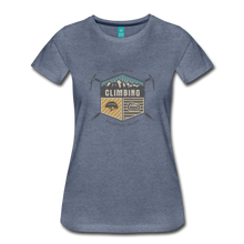 Load image into Gallery viewer, Women's Climbing T-Shirt - heather blue