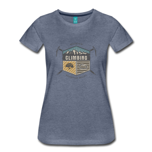 Women's Climbing T-Shirt - heather blue